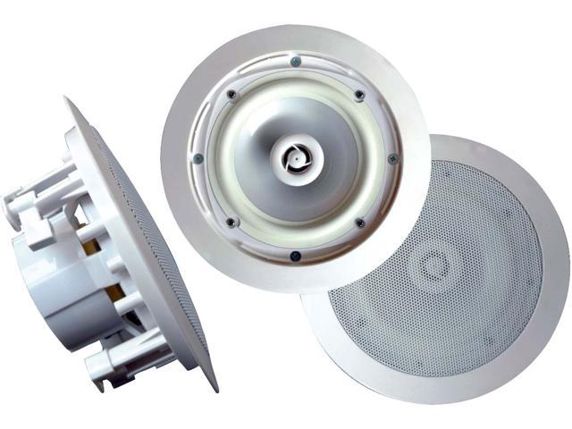 """New Pair Pyle Pwrc81 400W Weatherproof 8"""" In Ceiling Full Range Speakers"""