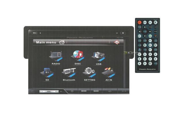 "POWER ACOUSTIK PD-710B 7"" TouchScreen CD/DVD/MP3 Car Player +Bluetooth USB/SD"