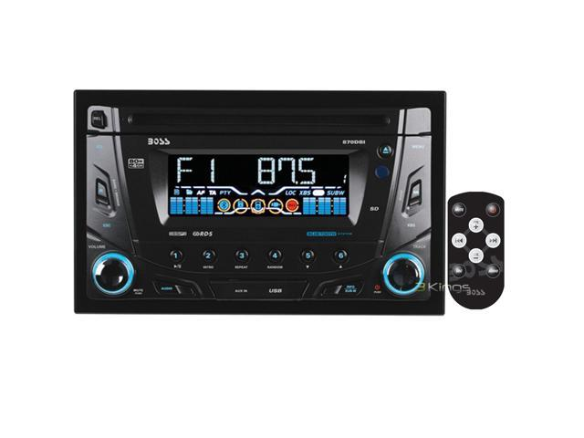 BOSS AUDIO 870DBI Double-DIN MP3 Player Receiver, Bluetooth, Detachable Front Panel, Wireless Remote