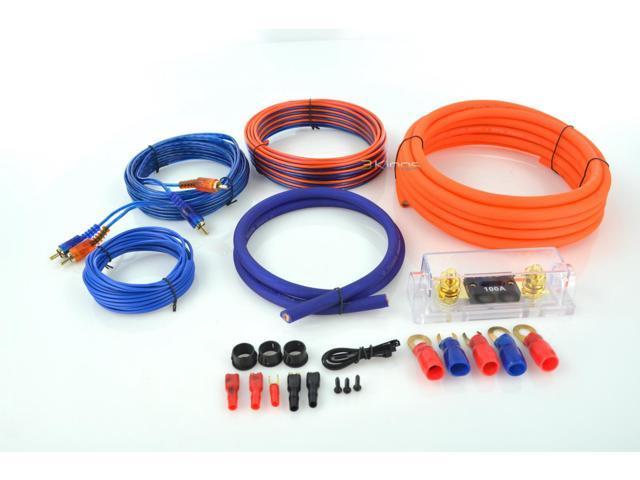 New Q-Power 4Gampkitsflex 4 Gauge Car Audio Amplifier Amp Kit Super Flex