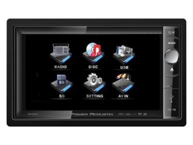 "New Power Acoustik Pd650 Motorized 6.5"" Widescreen Touchscreen W/ Dvd Player"