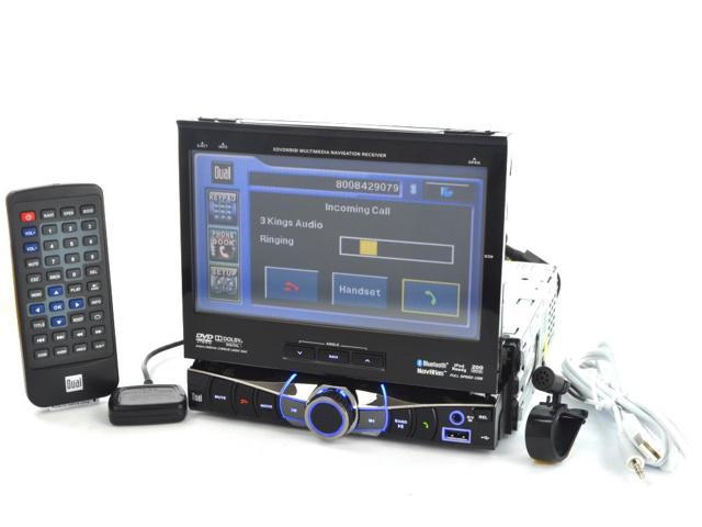 "Dual DDVDN9131 In-Dash 7"" Touchscreen TFT-LCD Monitor w/ Built-In GPS Navigation, Bluetooth, & DVD, CD, MP3 Player"
