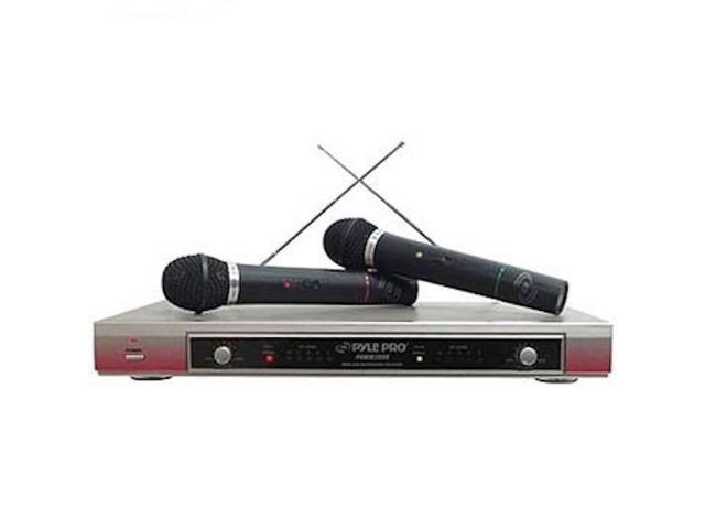 New Pyle Pdmw2000 Dual-Channel Wireless Hand-Held Microphone Set Pdmw-2000