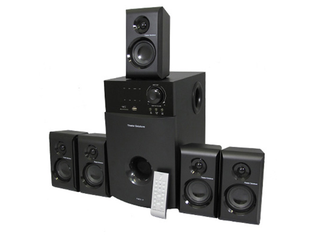 Theater Solutions TS514 Home Theater 5.1 Multimedia Speaker System with USB/SD and FM Tuner