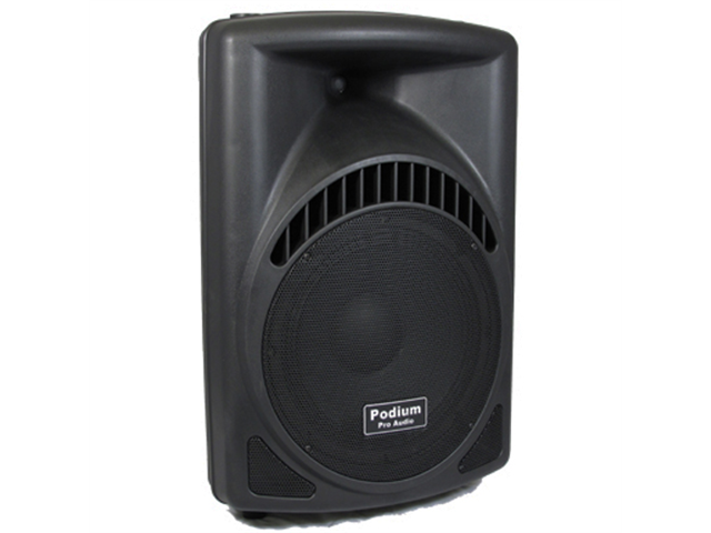 "Podium Pro 600 Watts Band DJ PA Karaoke Active Powered 12"" Loud Speaker w/ Bluetooth PP1204CD1B"