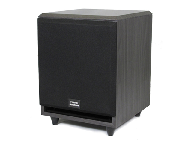 Theater Solutions SUB8F Black 250 Watt Surround Sound HD Home Theater Powered Active Subwoofer