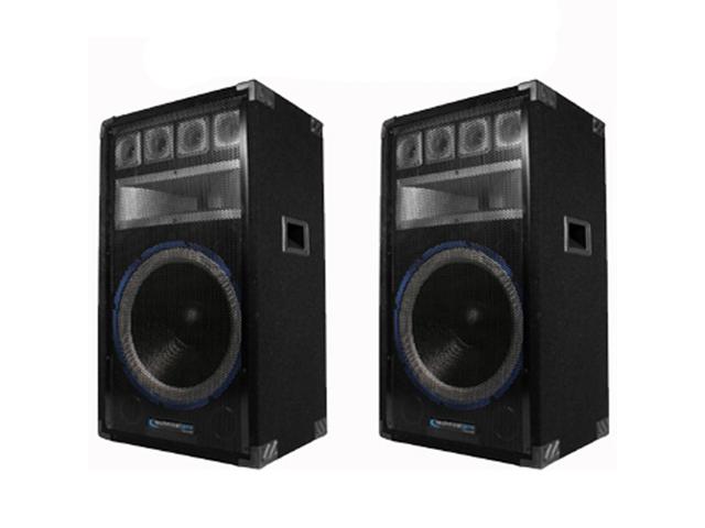 Technical Pro VRTX15 Passive Speaker Pair 2400 Watts PA DJ Karaoke Band Studio 2VRTX15