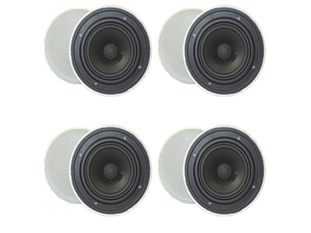"4 Pair of Goldwood Sound GH65 Round 6.5"" In Ceiling Quick Install Speakers New 4GH65"