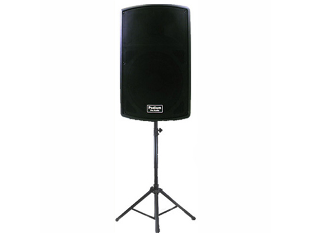 "Podium Pro 1 New Karaoke PA Band 15"" Pro Audio Powered Active 900 Watt Speaker and Stand DJ Set PP1502A1SET1"