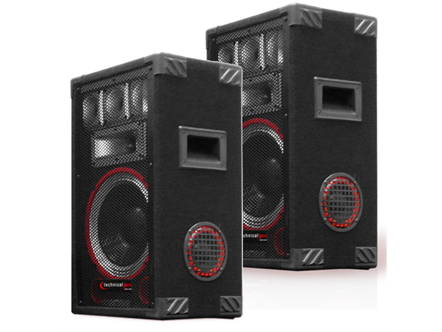 Technical Pro VMPR8 Passive Speaker Pair 1400 Watts PA DJ Karaoke Studio Home 2VMPR8