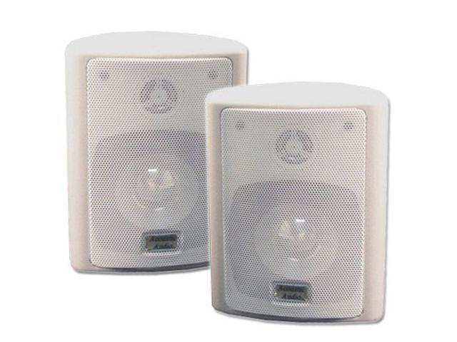 Acoustic Audio 151W Indoor Outdoor 2 Way Speakers 600 Watt White Pair New