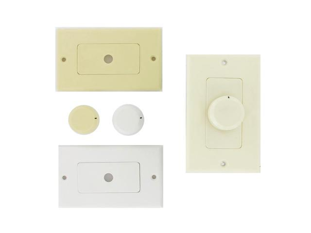 Theater Solutions TSVCD White Wall Mount Impedance Matching Speaker Dial Volume Control Switch