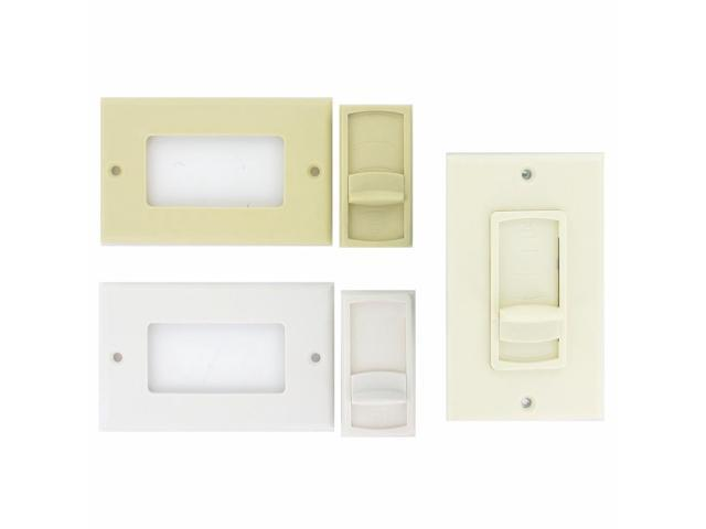 Theater Solutions TSVCS White Wall Mount Impedance Matching Speaker Slide Volume Control Switch
