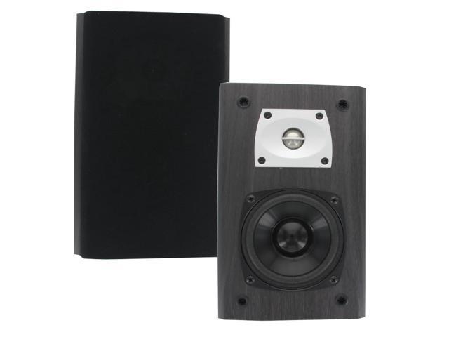 Theater Solutions B1 Black Bookshelf Speakers 400 Watts Surround Sound Home Theater Speaker Pair