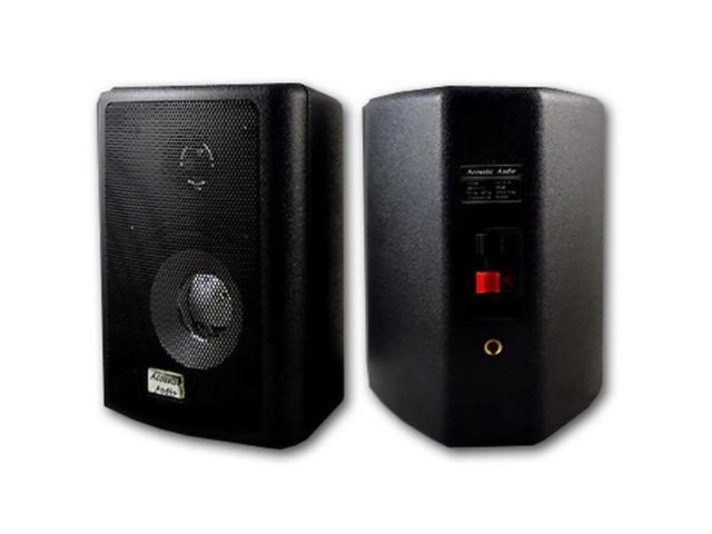 Acoustic Audio 151B Indoor Outdoor 2 Way Speakers 600 Watt Black Pair New