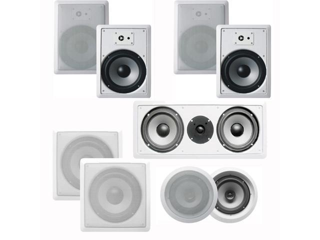 Acoustic Audio CST627 Complete 7.2 Home Theater Speaker Set with Center Channel and Subwoofer 2350 Watts