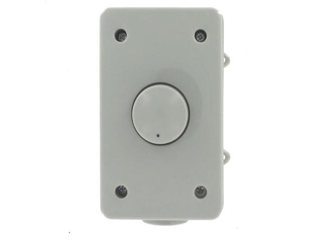 Theater Solutions OVCDG Outdoor Weatherproof Wall Mount Impedance Matching Speaker Dial Volume Control Gray Switch