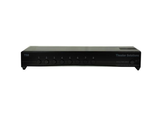 Theater Solutions TS8 Home Audio 16 Speaker Selector Box 8 Zone Passive Switcher
