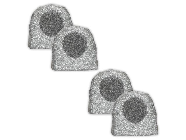 Acoustic Audio RS6GG Granite 1000 Watt Outdoor Rock Speaker 2 Pair Pack Weatherproof RS6GG-2Pr
