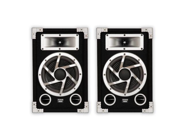 Acoustic Audio GX-450 PA Karaoke DJ Speakers 1400 Watts 2 Way Pair Home Audio