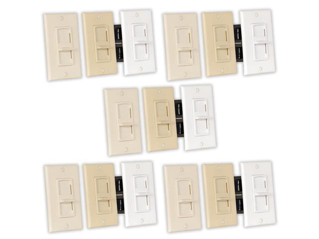 Theater Solutions TSVCS Indoor Speaker Volume Controls 3 Color Slide Audio Switches 5 Piece Pack
