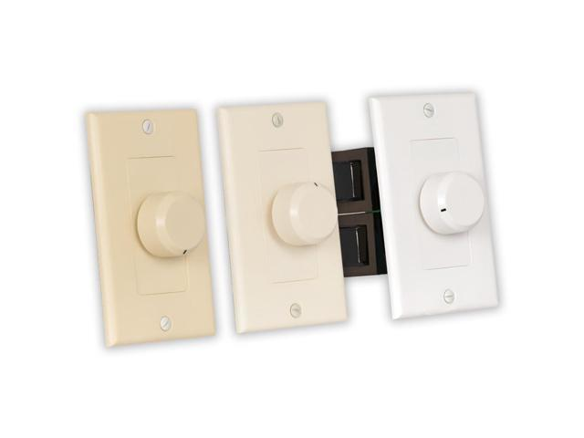Theater Solutions TSVCD Indoor Speaker Volume Control 3 Color Dial Audio Switch