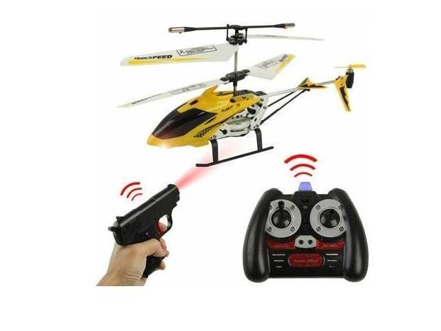 3.5ch Remote Control RC Toy Gun Shooting RC Helicopter w/ Light Sound Gyroscope