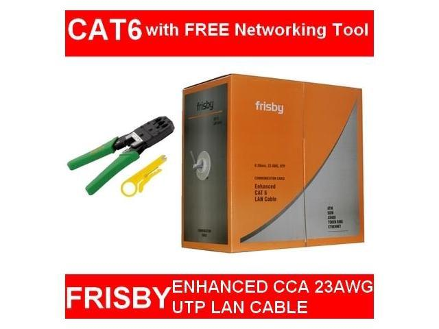 FRISBY CAT 6 CAT6 CCA 1000 ft  UTP LAN CABLE NETWORK