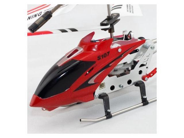 Syma S107 Remote Control RC Helicopter Toy 3 ch Red Metal Mini RTF w/ Gyroscope