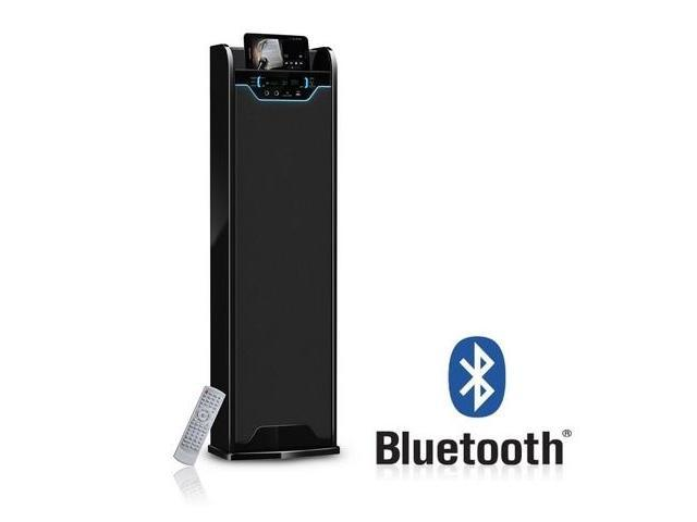 Frisby DBT-100S Bluetooth Wireless Tower Karaoke Speaker w/ Radio SD USB for iPad iPhone Tablet