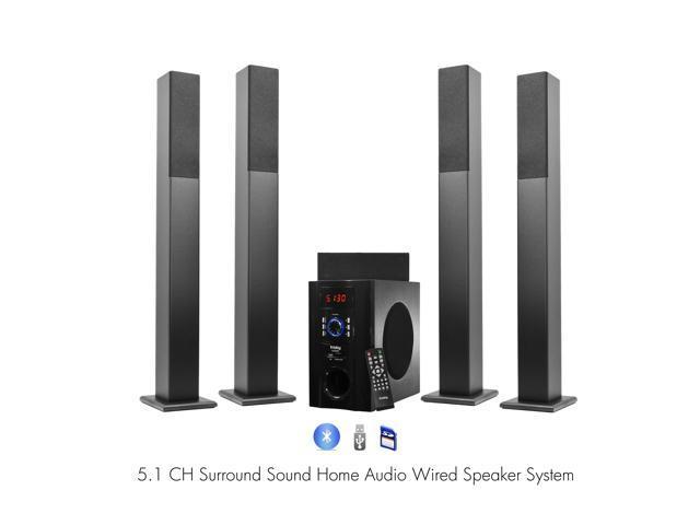 Frisby FS6500BT  Bluetooth Surround Sound 5.1 Tower Home Theater Speaker System w/ USB SD
