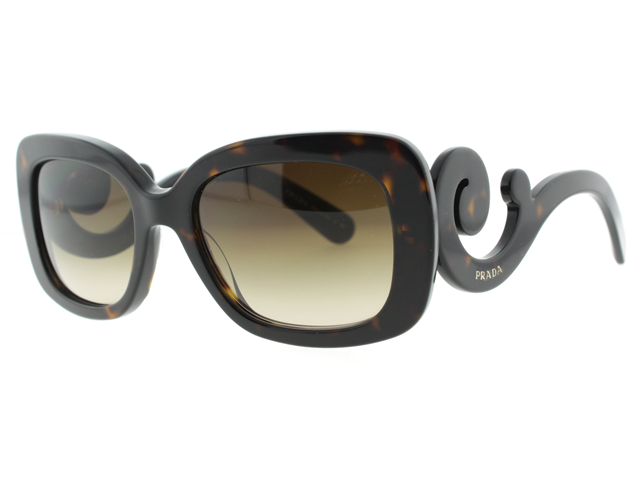 Prada SPR 27O 2AU6S1 Havana Brown Baroque Swirl Women's Sunglasses