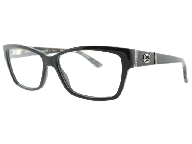 Gucci Eyeglass Frame 3559 : Gucci GG 3559 L73 Black W/ Crystals Eyeglasses 53mm ...