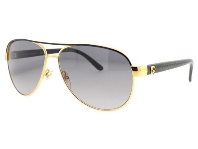 5d14dfc60c7 Gucci GG 4239 S DY0 Gold Black Women  s Aviator Sunglasses
