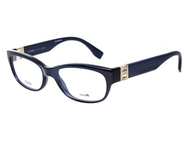 Fendi FF 0048 MJH 52mm Blue Cat Eye w/ Crystals Womens ...
