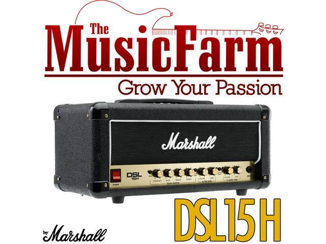 Marshall DSL DSL15H 15 Watt All Tube Electric Guitar Amplifier Amp Head