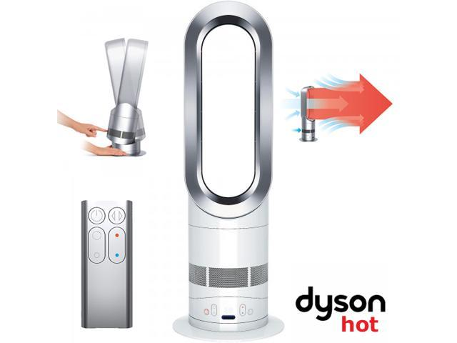 dyson am05 hot cool fan heater white silver. Black Bedroom Furniture Sets. Home Design Ideas