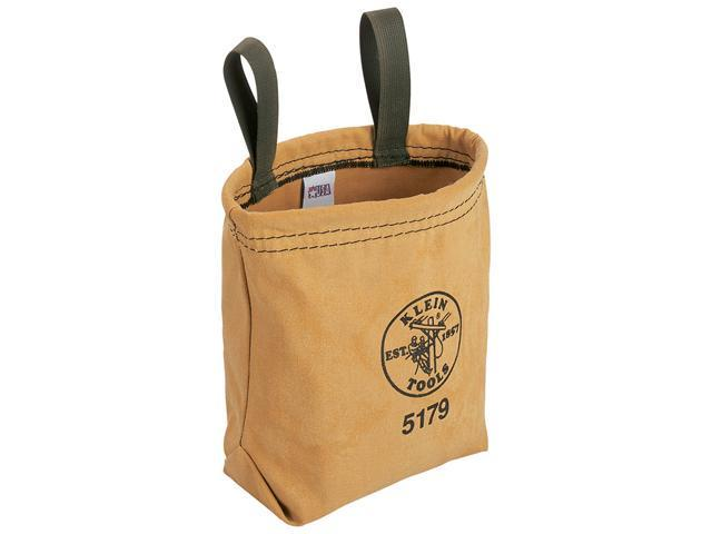 KLEIN TOOLS 5179 Water-Repellant Canvas Utility Pouch w/2 Belt Loops