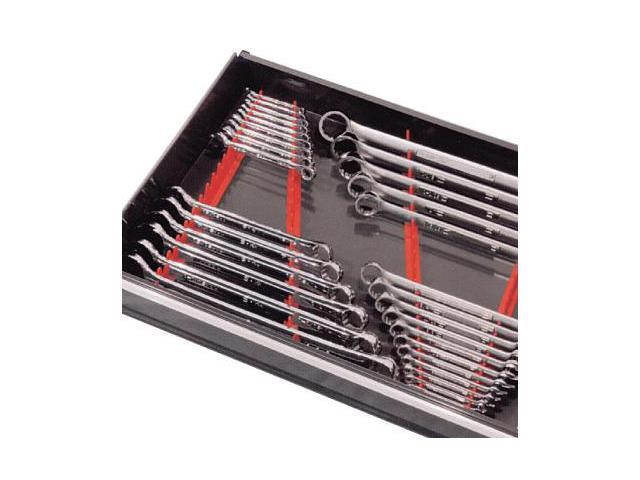 ERNST Mfg 6014M Red 40 Tool Magnetic Wrench Rail Organizer