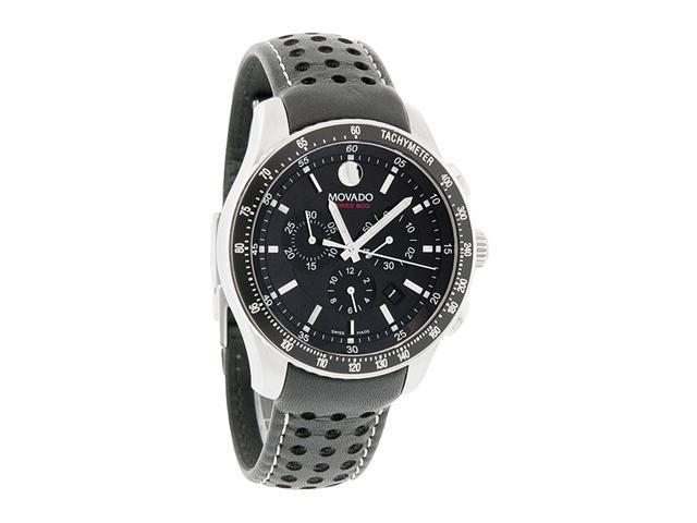 Movado Series 800 Quartz Chronograph Black Dial Mens Watch 2600096