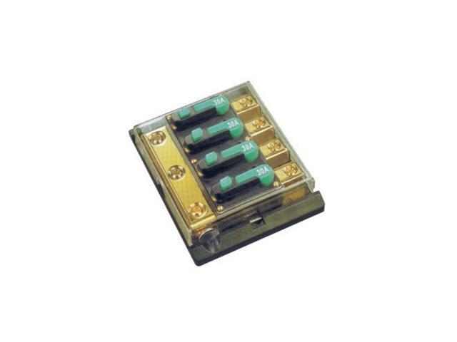Absolute 4DCB60 60 -Amp Distribution Circuit Breaker 4 Gang 4x4 Gauge Input 4x8 Gauge Output