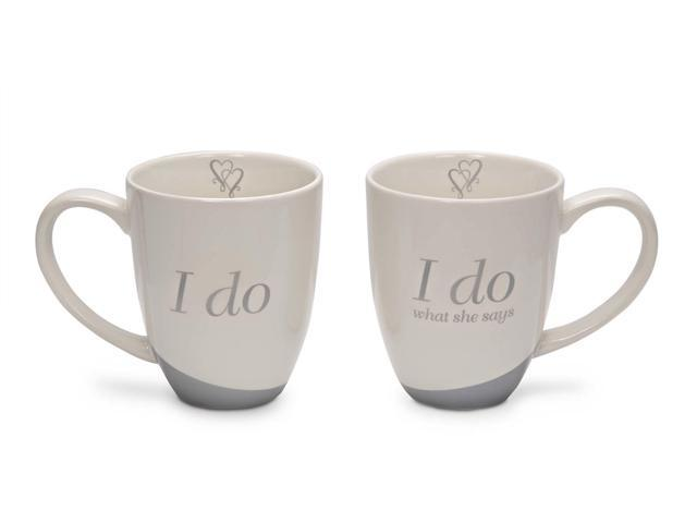 Glorious Occasions - Set of 2 Wedding Couples Mugs: I Do & I Do What She Says