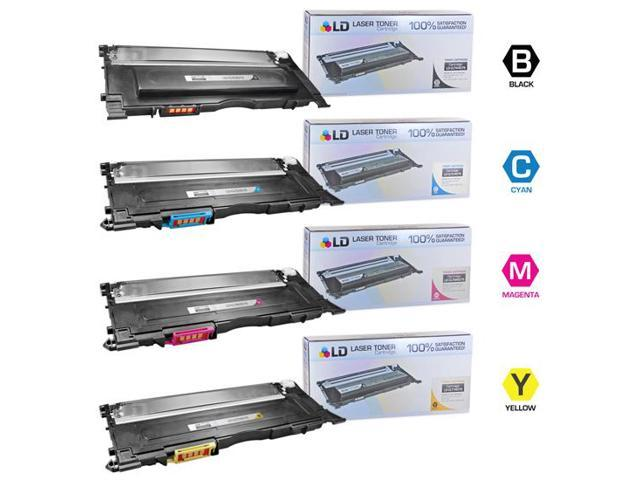 LD Compatible Laser Toners for  Samsung CLP-320  Set of 4 Toner Cartridges: 1 Black CLP-K407S / Cyan CLP-C407S / Magenta ...