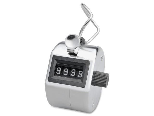 Tally Counter, w/ Finger Ring, 4 Figure, Silver