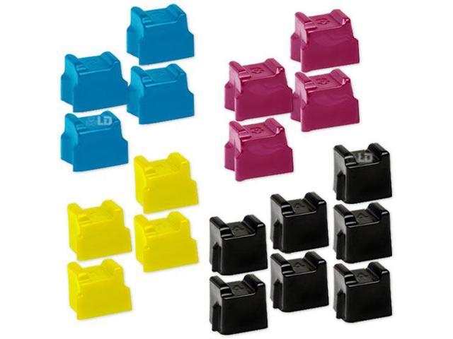 LD © Comaptible Xerox Phaser 8560 Set of 15 Sold Ink Stinks: 6 Black 108R00727 & 3 Cyan 108R00723, Magenta 108R00724, Yellow 108R00725 for the Phaser 8560, 8560DN, 8560DT, 8560DX, 8560MFP & 8560N