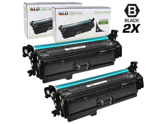 LD © Remanufactured Replacement Laser Toner Cartridges for Hewlett Packard CE264X (HP 646X) High-Yield Black (2 Pack)