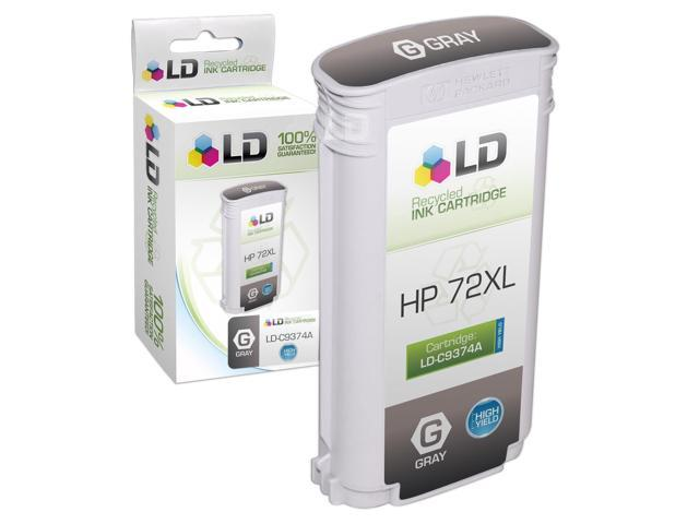 LD © Remanufactured Replacement for Hewlett Packard C9374A (HP 72) HY Gray Ink Cartridge for HP DesignJet T1100, T1100ps, T1120, T1120 SD-MFP, T1120ps, T1200, and More