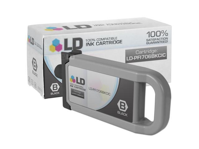 LD Compatible Replacement For Canon PFI 706BK Black Ink Cartridge