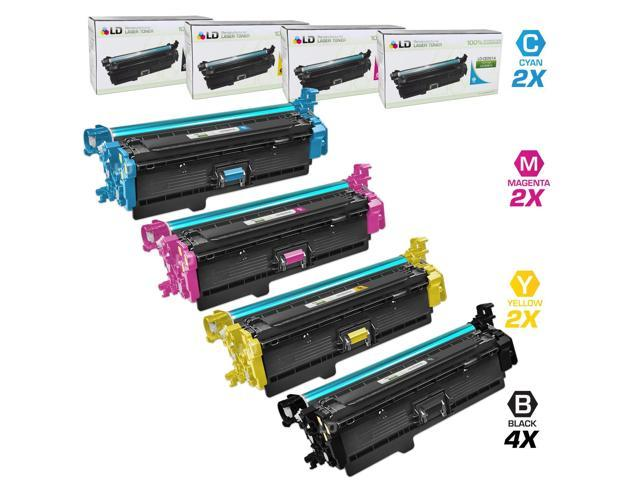 LD Remanufactured Replacement Laser Toner Cartridges for the HP Color LaserJet: 1 CE260A, 1 CE261A, 1 CE263A, 1 CE262A for ...