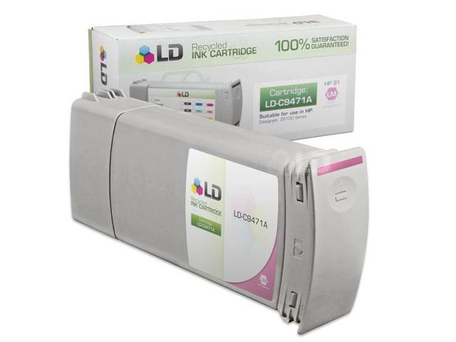 LD © Remanufactured Replacement Ink Cartridge for Hewlett Packard C9471A (HP 91) Light Magenta